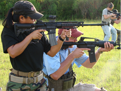 students in advanced carbine readiness class